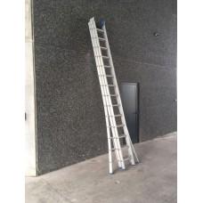 Solide uitschuifbare ladder 3 x 12